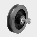 Pojezdová kladka pro vrata, volná, ⌀ kladky 75 mm